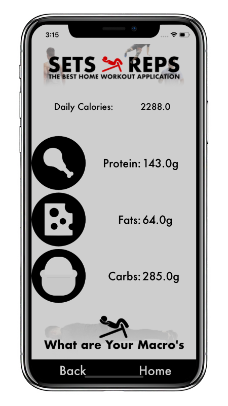 iPhone X Calorie Calculator Image