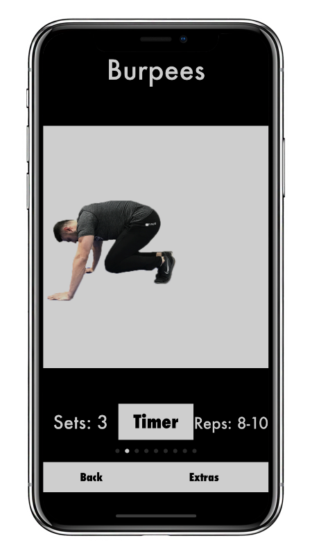 iPhone X Workout Screen Image