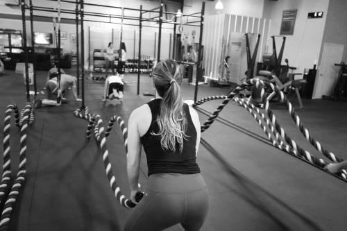 Women Doing Battle Ropes - Cardio ideas