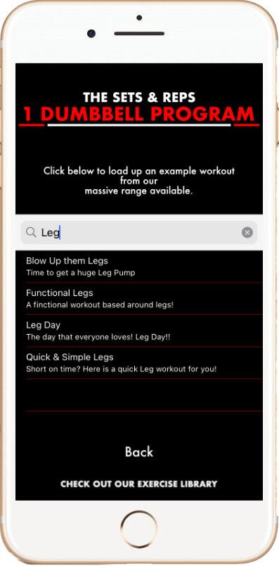 Membership Area - Workout Example
